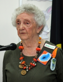 Mavis Reynolds, Co-ordinator of the Creative Embroiderers of the Penrith Valley